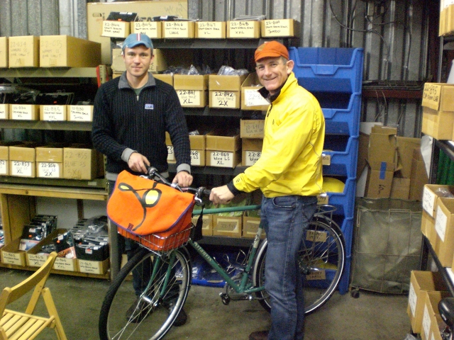 Mark and Rivendell mechanic Jay Ritchey