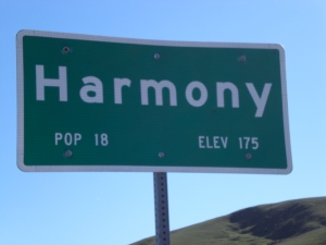 Harmony, CA -- mile 250, halfway between SF and LA!