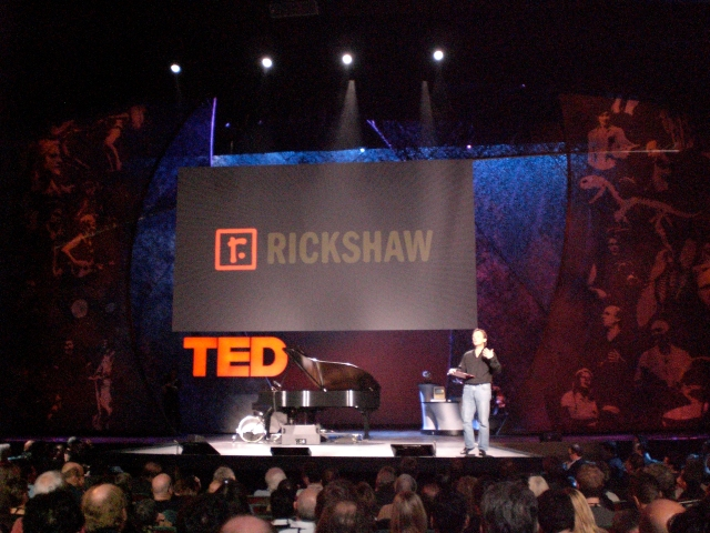 Rickshaw sponsor screen at TED2009